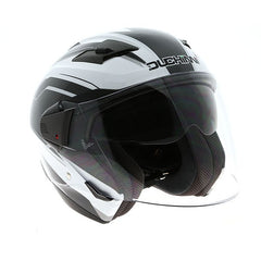 Duchinni D205 Jet Helmet - Carbon | White