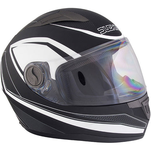 Duchinni D705 Syncro Helmet - Black | White