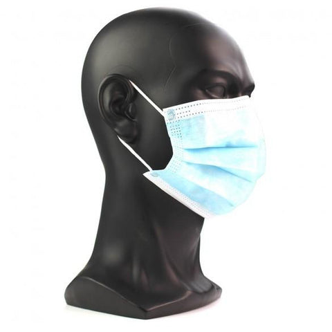 Protective Face Masks Triple Layer - Box of 50 - BULK DISCOUNTS AVAILABLE