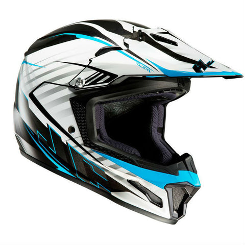 HJC CL-XY 2 Kids Blaze Helmet - White | Blue