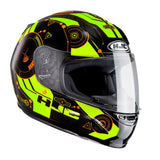 HJC CLY Simitic Kids Helmet - Black | Fluo