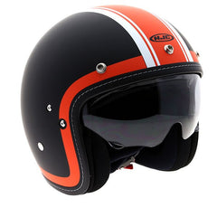 HJC FG-70S Heritage Helmet - Black | Orange