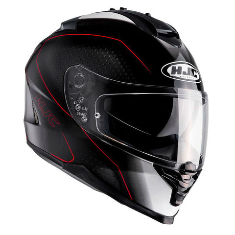 HJC IS-17 Arcus Helmet - Black | Red