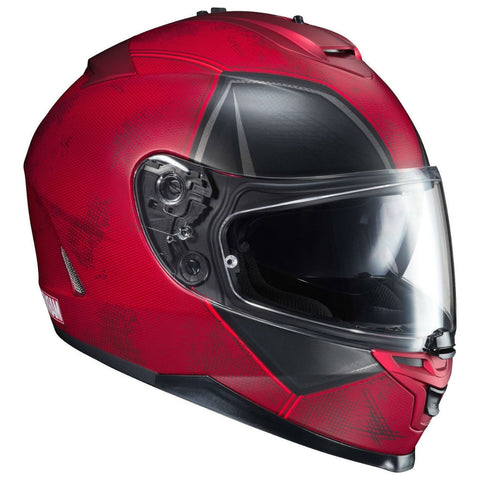 HJC IS-17 Helmet Marvel Deadpool - Black | Red