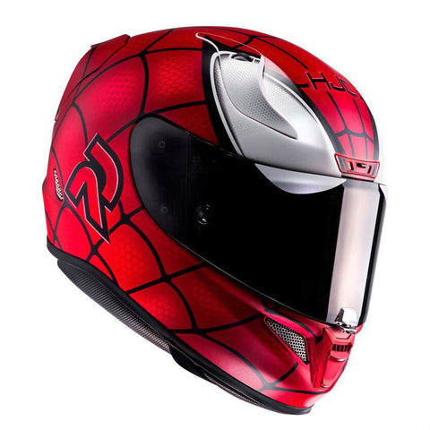 HJC RPHA 11 Marvel Spiderman Helmet - Black | Red