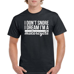 'I Don't Snore' Biker T-Shirt - Mens