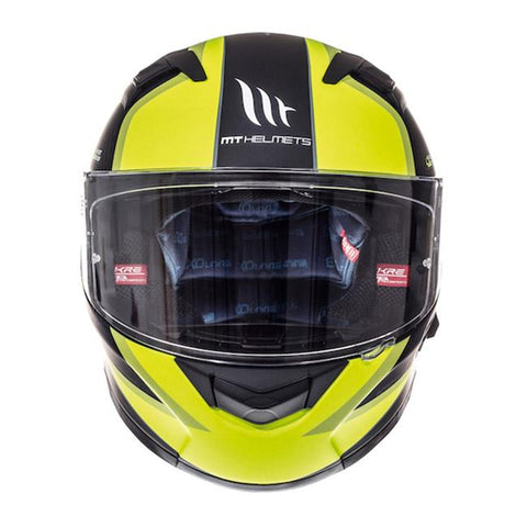 MT KRE SV Momentum Helmet - Matt Black | Fluo Yellow