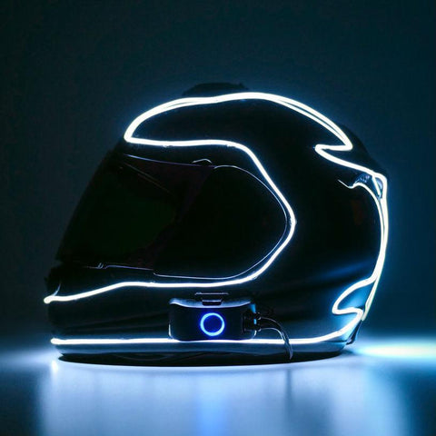 LightMode Electron S Helmet Light Kit - White