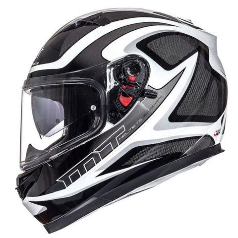MT Blade SV Morph Helmet - Black | White | Grey