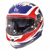 MT Blade SV Morph Helmet - White | Red | Blue