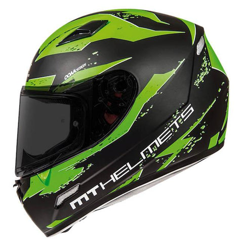 MT Mugello Vapor Helmet - Matt Black | Green