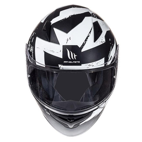 MT Mugello Vapor Helmet - Matt Black | White