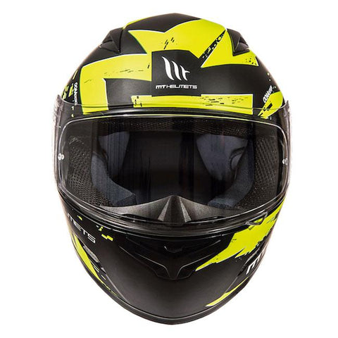 MT Mugello Vapor Helmet - Matt Black | Fluo Yellow