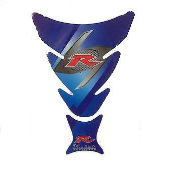 Blue 'R' Style Motorcycle Tank Protector