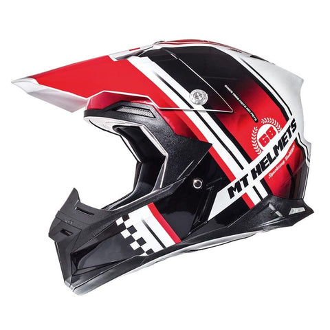 MT Synchrony Endurance Helmet -Black | White | Red