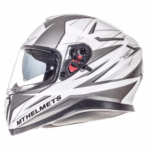MT Thunder 3 Effect Helmet - Grey | White