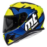MT Thunder 3 Torn Helmet Limited Edition - Yellow | Blue