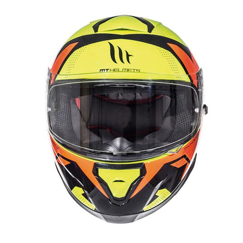 MT Thunder 3 Torn Helmet Limited Edition - Yellow | Orange