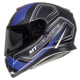 MT Thunder 3 Trace Helmet - Blue | Matt Black