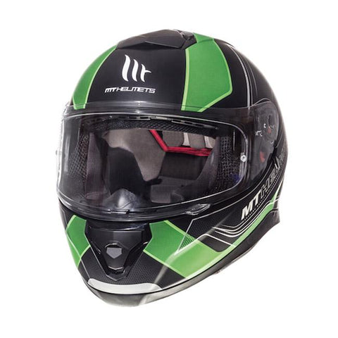 MT Thunder 3 Trace Helmet - Green | Matt Black