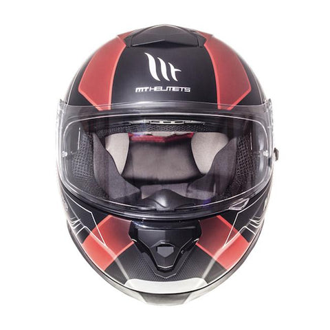 MT Thunder 3 Trace Helmet - Red | Matt Black