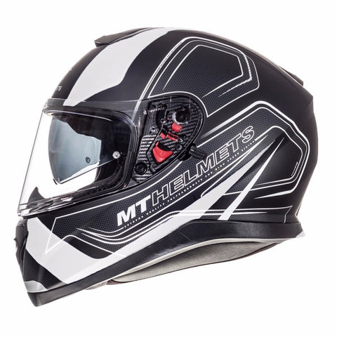 MT Thunder 3 Trace Helmet - White | Matt Black