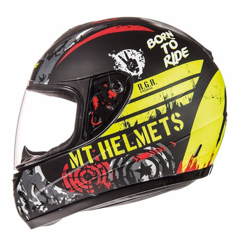 MT Thunder Sniper Kids Helmet - Matt Black | Yellow
