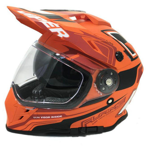 Viper RXV288 Flame Helmet - Matt Orange