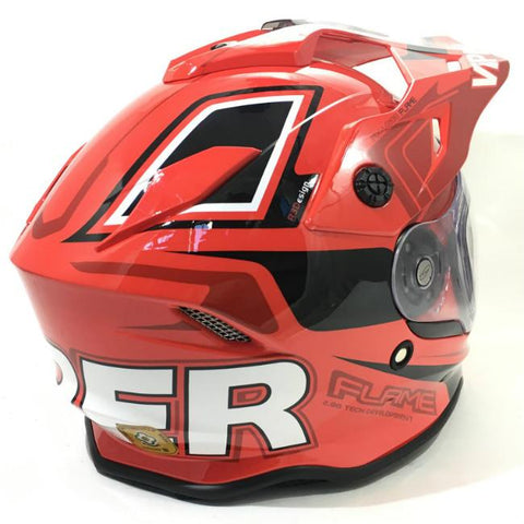 Viper RXV288 Flame Helmet - Black | Red