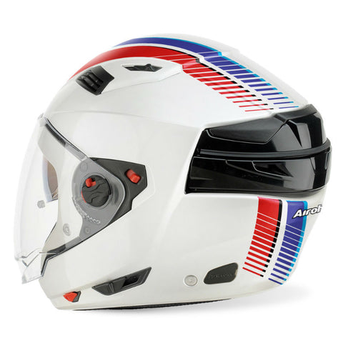 Airoh Executive R Modular Helmet - White Stripes