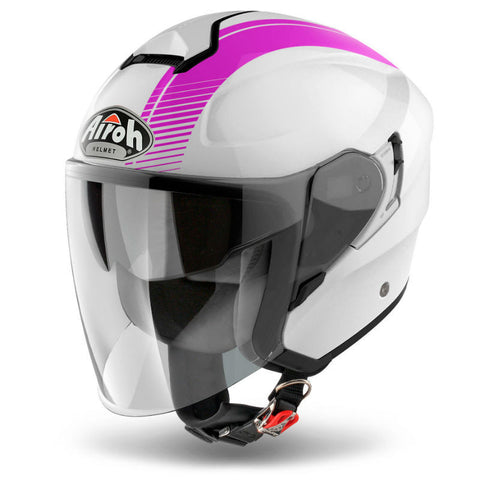 Airoh Hunter Urban Helmet - White | Pink