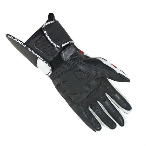 ARMR Moto S550 Leather Gloves | Black | Red | White