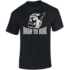 Born To Ride' Biker T-Shirt - Mens