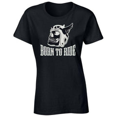 'Born To Ride' Biker T-Shirt - Womens