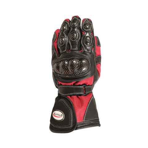 Buffalo Storm Gloves | Black | Red