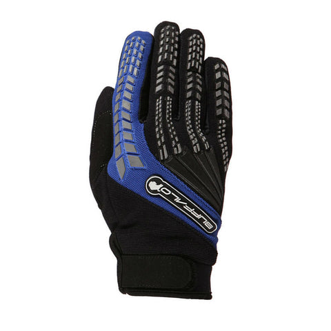 Buffalo Focus Gloves | Black | Blue