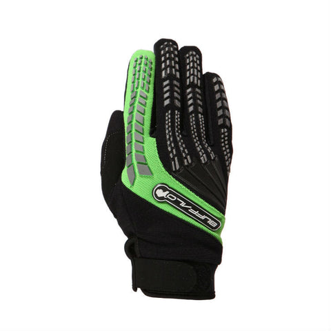 Buffalo Focus Gloves | Black | Green