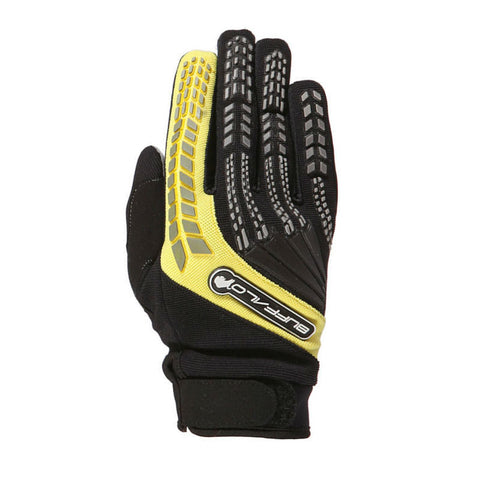 Buffalo Focus Gloves | Black | Yellow