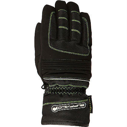 Buffalo Kids Trail Gloves | Black | Neon