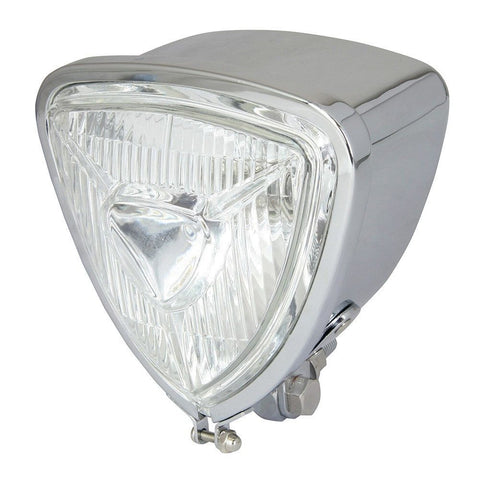 Chrome Triangle Headlight