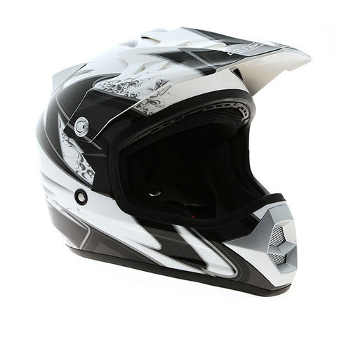 Duchinni D301 Kids Helmet - White | Gunmetal