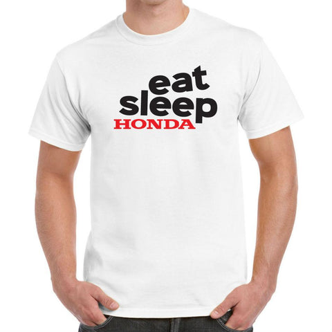 Eat Sleep Honda' Biker T-Shirt - Mens