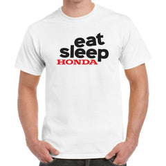 'Eat Sleep Honda' Biker T-Shirt - Mens
