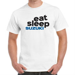 'Eat Sleep Suzuki' Biker T-Shirt - Mens