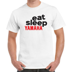 'Eat Sleep Yamaha' Biker T-Shirt - Mens
