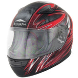 Full Face Helmets - Stealth Youth Razor HD127-Razor Red