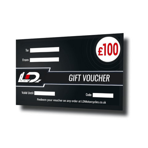 £100 Motorcycle Gift Card Voucher | LDMotorcycles.co.uk