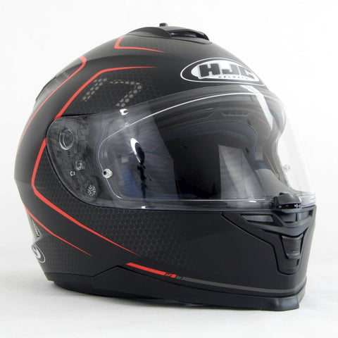 HJC IS-17 Lank Helmet - Black | Red