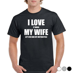 'I Love My Wife' Biker T-Shirt - Mens