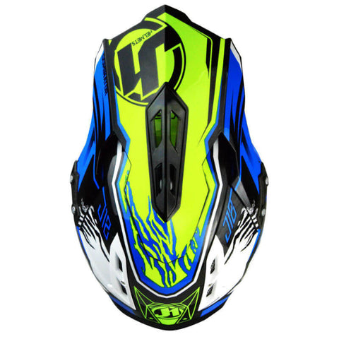 JUST1 J12 Dominator Carbon Helmet - Neon | Blue